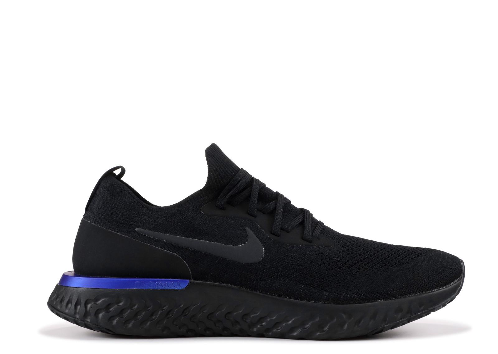 13ec9c367f02f Nike Epic React Flyknit Black Racer Blue