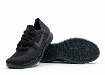 check out bbfb8 2beab Nike Free RN Flyknit 2017 Triple Black - 5