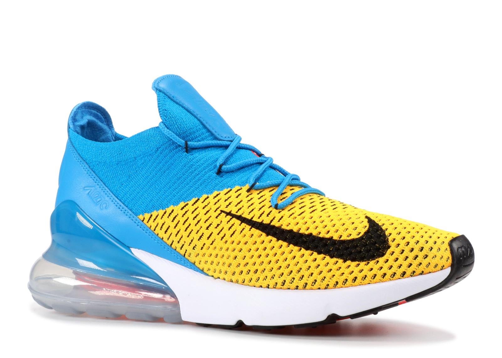0e3dd1b43bad6 Nike Air Max 270 Flyknit Laser Orange Blue Orbit - 1
