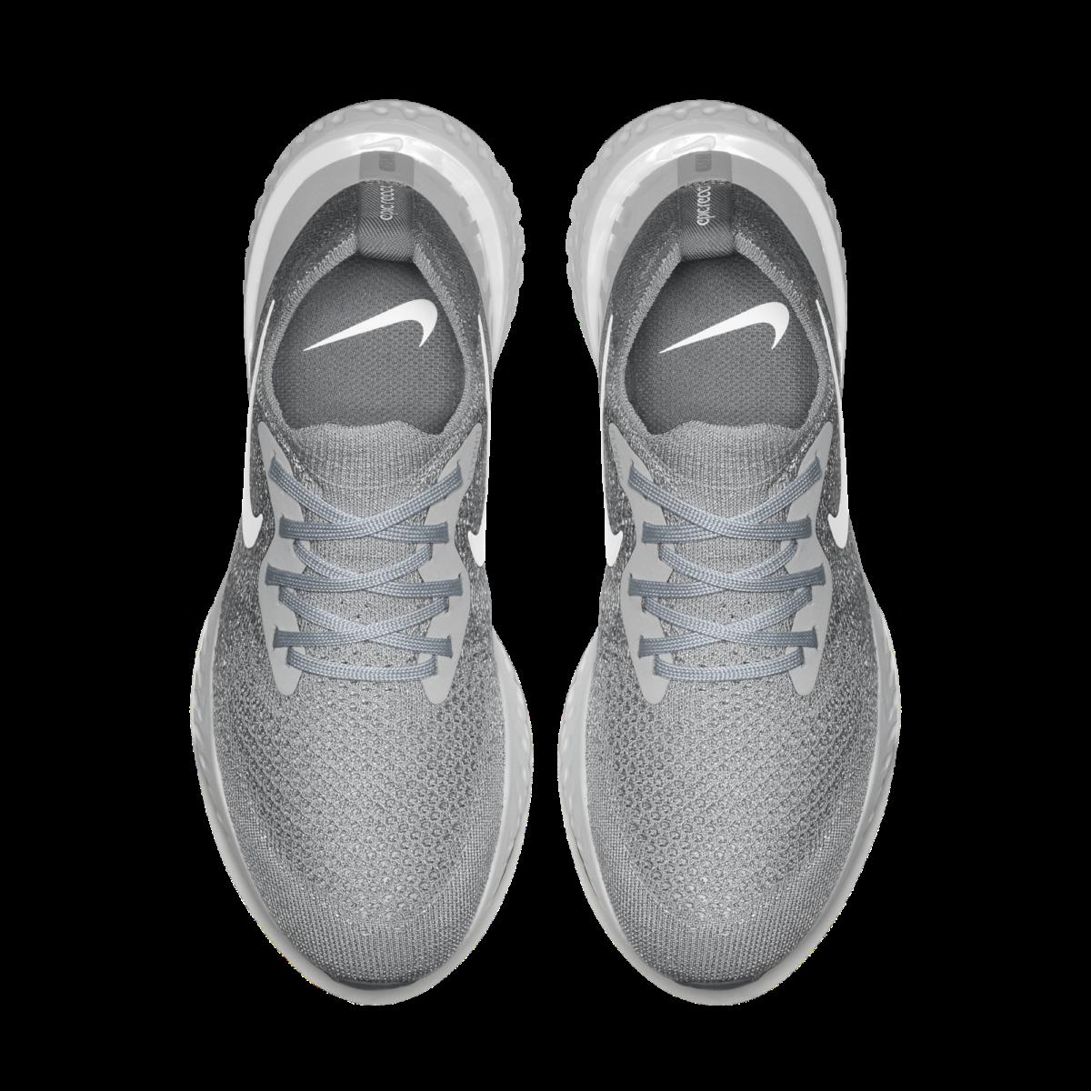 99e73f7a16075 Nike Epic React Flyknit Wolf Grey (W) - 3