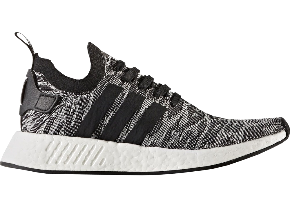 1825ad70a Adidas NMD R2 Black White Future Harvest