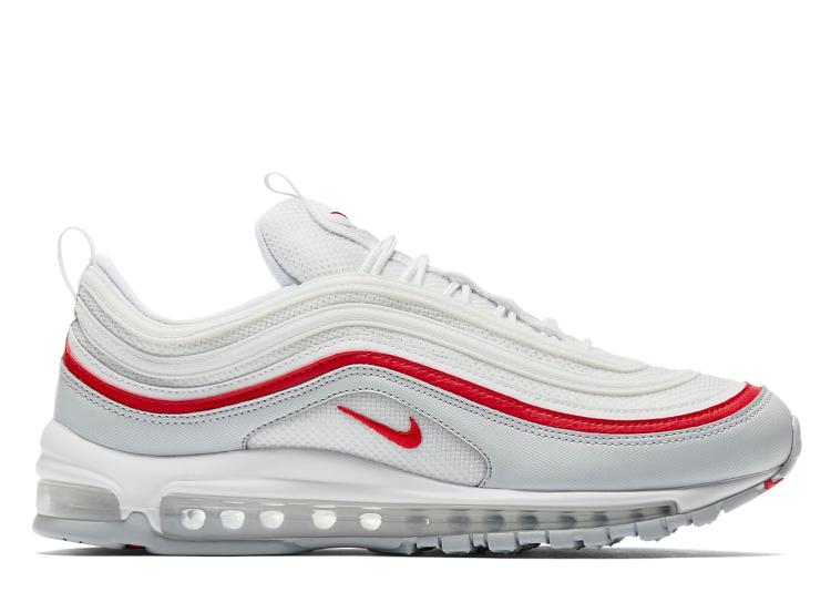 watch 88bdd e19d2 Nike Air Max 97 White Pure Platinum University Red