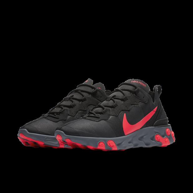 05fae852547c Nike React Element 55 Black Solar Red - 1