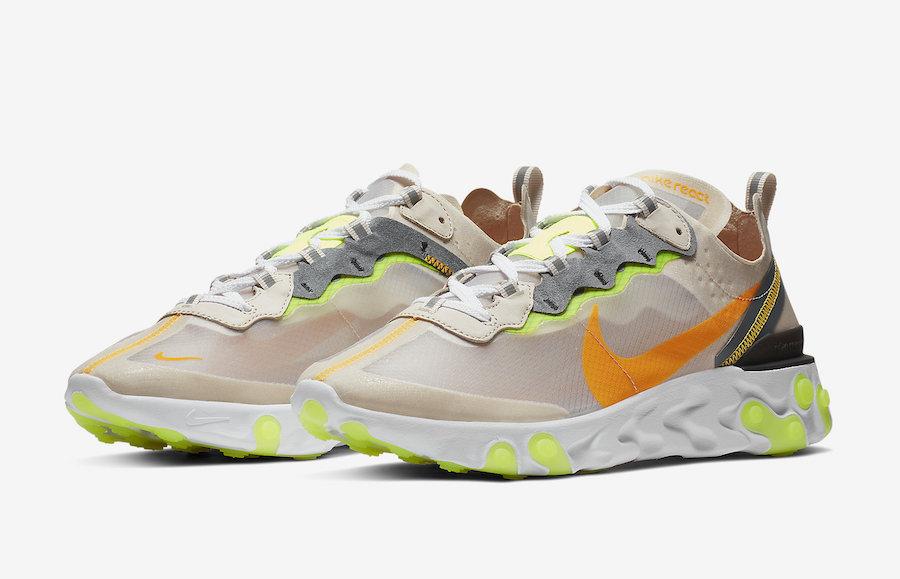491d3922c8a9d Nike React Element 87 Light Orewood Brown - 1