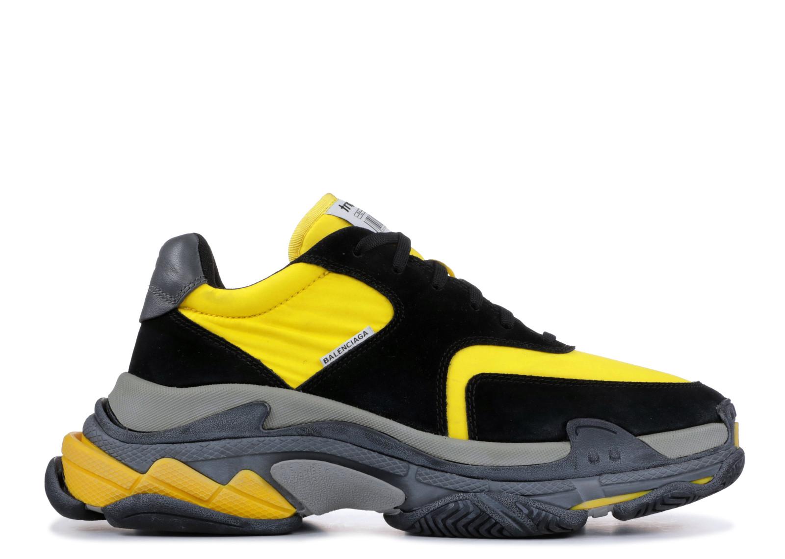 f0c468f439b6 Balenciaga Triple S Black Yellow - 0