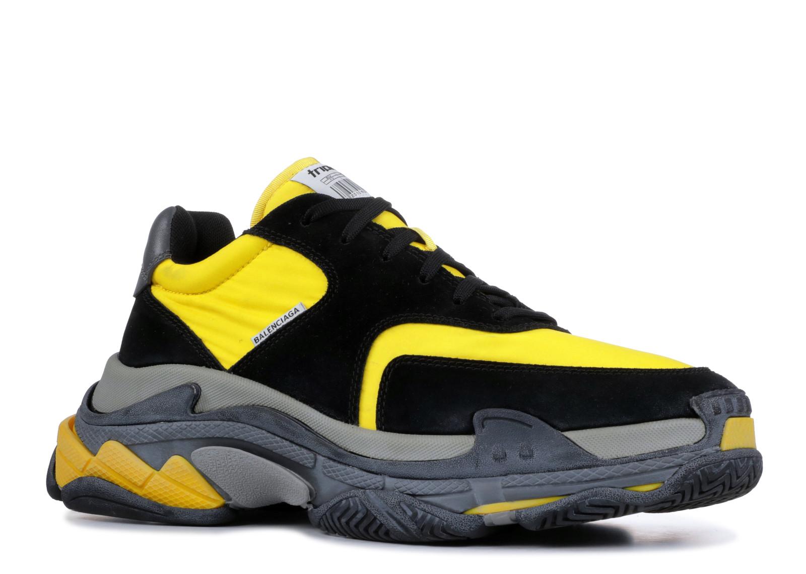 6bc67f4637b8 Balenciaga Triple S Black Yellow - 1