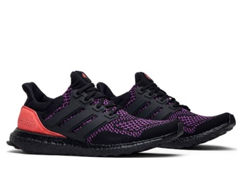 adidas Ultra Boost Core Black Active Purple Shock Red