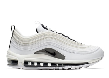 33463e3e2bc42 Nike Air Max 97 White Black Silver (W)