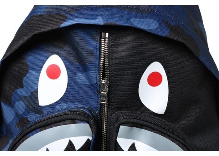 99e82381 Bathing Ape Color Camo Shark Day Pack - 3